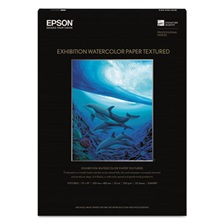Epson® Exhibition Textured Watercolor Paper, 13 x 19, White