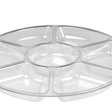 Platter Pleasers 14'' 7 Compartment Tray - 3507-CL
