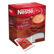 Nestlé® Hot Cocoa Mix, Rich Chocolate, 0.71 oz Packets, 50/Box, 6 Box/Carton