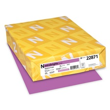 Astrobrights® Color Cardstock, 65lb, 8 1/2 x 11, Planetary Purple, 250 Sheets