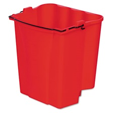 Rubbermaid® Commercial Dirty Water Bucket for Wavebrake Bucket/Wringer, 18qt, Red