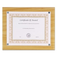 "NuDell™ Magnetic Series Woodgrain Plaque, Oak, 13""W, Rectangle"