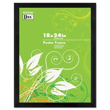 DAX® Black Solid Wood Poster Frames w/Plastic Window, Wide Profile, 18 x 24