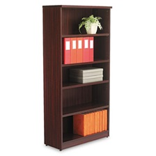 Alera® Alera Valencia Series Bookcase, Five-Shelf, 31 3/4w x 14d x 65h, Mahogany