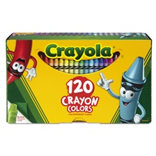 Crayola® Classic Color Crayons, Tuck Box, 120 Colors