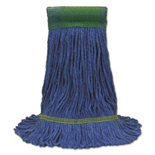 O-Cedar® Commercial Maxi-Clean Loop-End Mop Heads, Medium, 10 1/2 x 15 1/2, Blue, 12/Carton