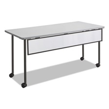 Safco® Impromptu Modesty Panel, Polycarbonate/Steel, 66w x 1d x 9h, Black