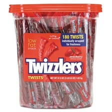 Twizzlers® Strawberry Twizzlers Licorice, Individually Wrapped, 180/Tub