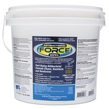 2XL FORCE Antibacterial Wipes, 8 x 6, White, 900 Wipes/Bucket, 2 Buckets/Carton