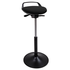 Alera Plus™ Perch Sit Stool, Black with Black Base