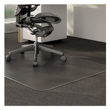 Alera® Studded Chair Mat for Low Pile Carpet, 46 x 60, Clear