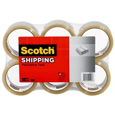 "Scotch® 3350 General Purpose Packaging Tape, 2.83"" x 54.6yds, 3"" Core, Clear, 6/Pack"
