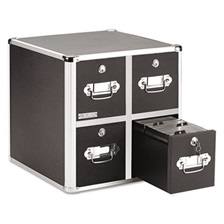 Vaultz® 4-Drawer CD File Cabinet, Holds 660 Folders or 240 Slim/120 Standard Cases