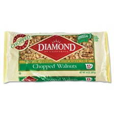 Diamond of California® Chopped Walnuts, 8oz Bag