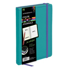Astrobrights® ColorPop Journal, College Ruled, 8 1/4 x 5 1/8, Teal, 240 Sheets