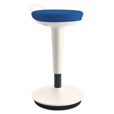 Alera® AdaptivErgo Balance Perch Stool, Blue with White Base