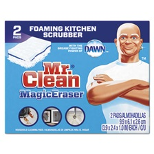 "Mr. Clean® Magic Eraser Kitchen Scrubber, 3 9/10"" x 2 2/5"", 2/Box, 12 Boxes/Carton"