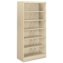 HON® 600 Series Steel Open Shelving, Six-Shelf, 36w x 16-3/4d x 75-7/8h, Putty