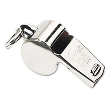 Champion Sports Sports Whistle, Heavy Weight, Metal, Silver