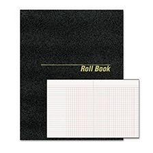 National® Roll Call Book, 9-1/2 x 7-7/8, Black, 48 Pages