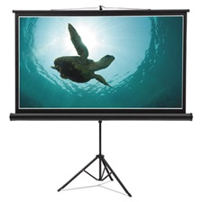 Quartet® Wide Format Tripod Base Projection Screen, 52 x 92, White