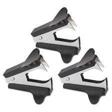 Universal® Jaw Style Staple Remover, Black, 3 per Pack