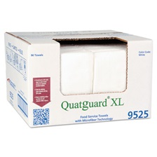 Atlantic Mills® Quatguard XL Microfiber Wipers, White, 96/box
