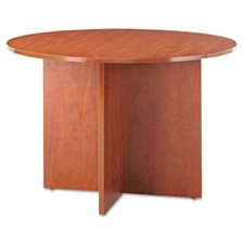 Alera® Alera Valencia Round Conference Table w/Legs, 29 1/2h x 42 dia., Medium Cherry