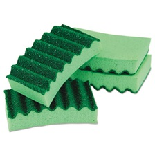 LYSOL® Brand Durable Heavy Duty Scrub Sponges, 4 1/5 x 2 1/2 x 9/10, Green, 4/Pack
