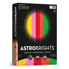 Astrobrights® Color Cardstock, 65lb, 8 1/2 x 11, Assorted, 250 Sheets