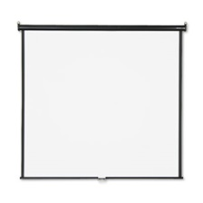 Quartet® Wall or Ceiling Projection Screen, 70 x 70, White Matte, Black Matte Casing
