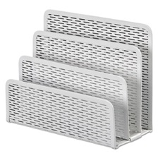 Artistic® Urban Collection Punched Metal Letter Sorter, 6 1/2 x 3 1/4 x 5 1/2, White
