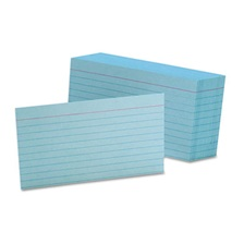 Oxford™ Ruled Index Cards, 3 x 5, Blue, 100/Pack