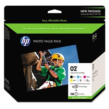 HP HP 02, (Q7964AN) 6-Pack Assorted Original Ink w/Photo Paper