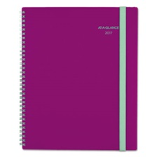 AT-A-GLANCE® Color Play Weekly/Monthly Planner, 8 1/2 x 11, Purple/Teal, 2017
