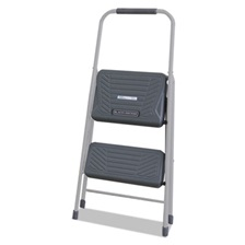 Louisville® Black and Decker Steel Step Stool, Two-Step, 200 lb Cap, Gray