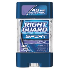 Right Guard® Sport Gel Deodorant, Active Scent, 3 oz Tube, 12/Carton