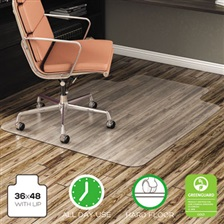 deflecto® EconoMat Anytime Use Chair Mat for Hard Floor, 36 x 48 w/Lip, Clear