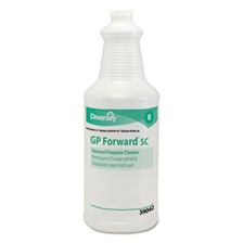Diversey™ GP Forward Super Concentrated General Purpose Cleaner Capped Bottle, 32oz,12/CT