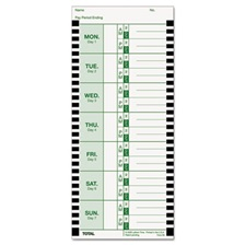 Lathem® Time Time Card for Lathem Model 800P, 4 x 9, Weekly, 1-Sided, 100/Pack