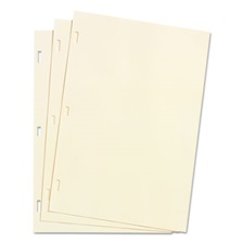 Wilson Jones® Looseleaf Minute Book Ledger Sheets, Ivory Linen, 14 x 8-1/2, 100 Sheet/Box
