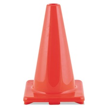 "Champion Sports Hi-Visibility Vinyl Cones, 12"" Tall, Orange"