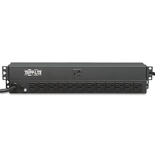 Tripp Lite PDU1220 Single Phase Basic PDU 20A 120V 1U RM 13 Outlet 5-15/20R 15ft Cord