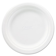 Chinet® Classic Paper Plates, 6 3/4 Inches, White, Round, 125/Pack