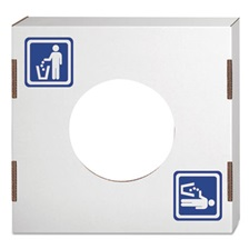 Bankers Box® Waste and Recycling Bin Lid, General Waste, White, 10/Carton