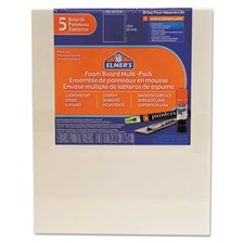 Elmer's® White Pre-Cut Foam Board Multi-Packs, 8 x 10, 5/PK