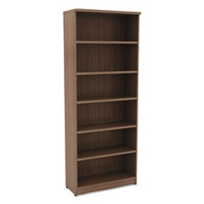 Alera® Alera Valencia Series Bookcase, Six-Shelf, 31 3/4w x 14d x 80 3/8h, Mod Walnut
