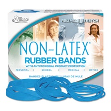 Alliance® Antimicrobial Non-Latex Rubber Bands, Sz.19, 3-1/2 x 1/16, 1/4lb Box