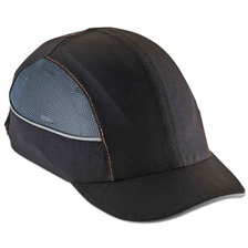 ergodyne® Skullerz 8960 Bump Cap w/LED Lighting Technology, Short Brim, Black