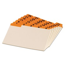 Oxford™ Laminated Tab Index Card Guides, Daily, 1/5 Tab, Manila, 4 x 6, 31/Set